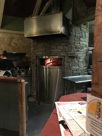 Wild Tomato: The pizza oven.