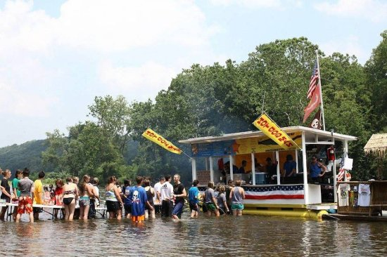 The hot dog man picture of delaware river tubing for Funnest all inclusive resorts