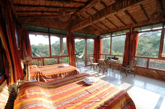 San Jorge de Milpe Eco-Lodge Orchid & Bird Reserve: San Jorge de Milpe NEW FOREST LODGE - room with balcony & views