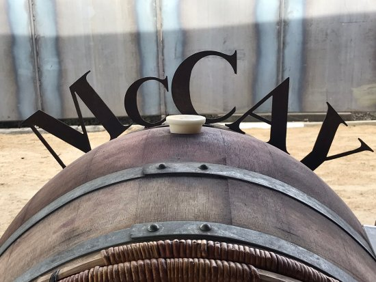 Lodi, CA: One of the barrels soon to be bottled