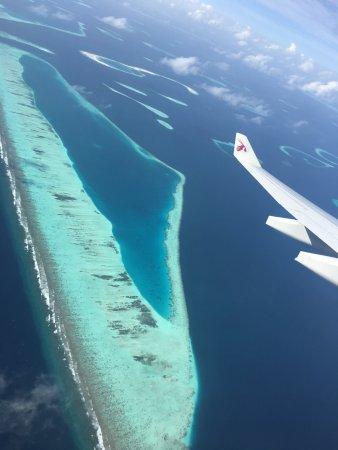 Robinson Club Maldives: Супер вид из самолета!
