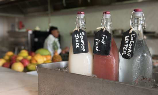 Canouan: We loved the fresh juices at breakfast!!