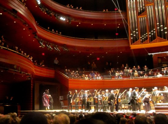 Kimmel Center for the Performing Arts: Bagpiper exiting the stage after performing in Maxwell Davies' An Orkney Wedding
