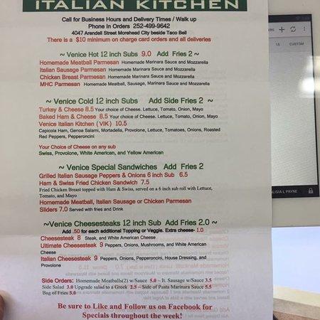 Venice italian kitchen morehead city restaurant reviews for Italian kitchen hanham phone number