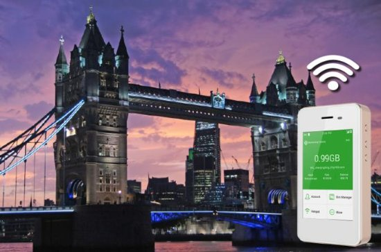 4G LTE Pocket WiFi Rental, Internet Connection in London