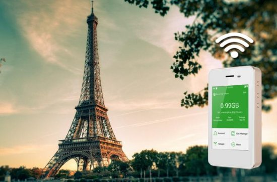 4G LTE Pocket WiFi Rental, Internet Connection in Paris - pick up at...