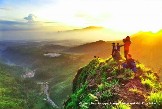 "top of the rock hills known as ""Gunung Batu Jonggol"""