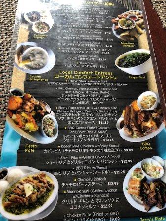 Terry's Local Comfort Food: Menu1