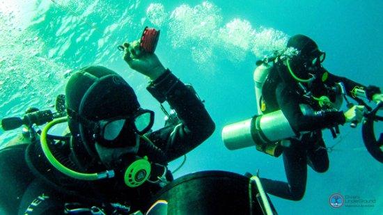 Tri Mix Scuba Diving : Tdi trimix diving picture of divers underground puerto