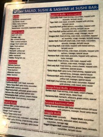 salad sushi sashimi menu at fuji sushi buffet in vacaville rh tripadvisor com Fuji Sushi Buffet Michigan fuji sushi buffet menu elk grove price