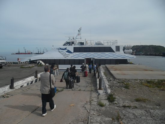 penguin ferry at korsakov dock