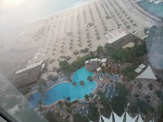 Jumeirah Beach Hotel: This is the view from the elevator