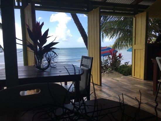 Laborie, Saint Lucia: Inside tables
