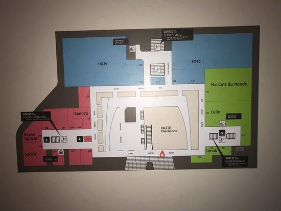 План   1 этажа   Picture of Forum des Halles, Paris   TripAdvisor
