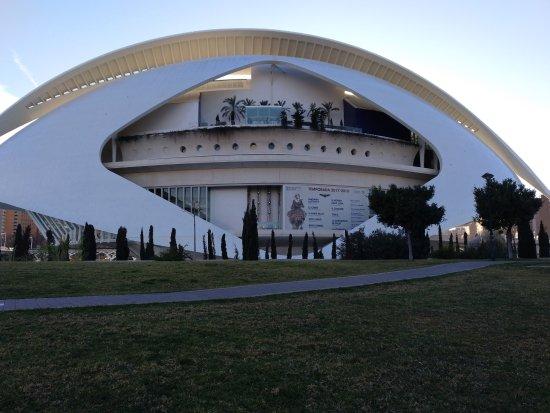 Ciudad de las Artes y las Ciencias: Es el palacio de las artes y de la musica , donde dan rapresentaciones teatrales y musicales