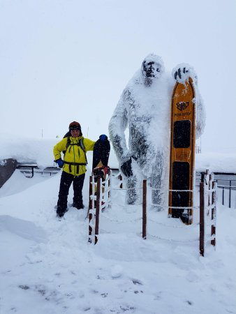 Monument Sery Yyeti: Снежный Йети на Розе Пик