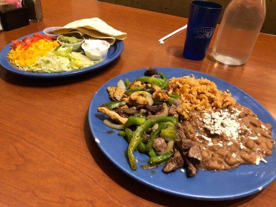 Sam's No. 3: Steak and chicken fajitas