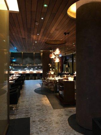 Emirate of Abu Dhabi, United Arab Emirates: Interior of restaurant