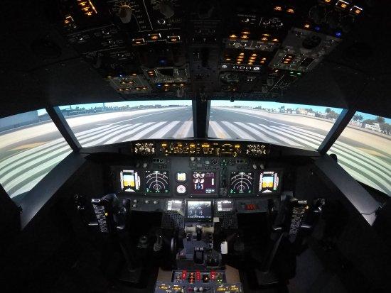 airliner 737 cockpit picture of jet flight simulator. Black Bedroom Furniture Sets. Home Design Ideas