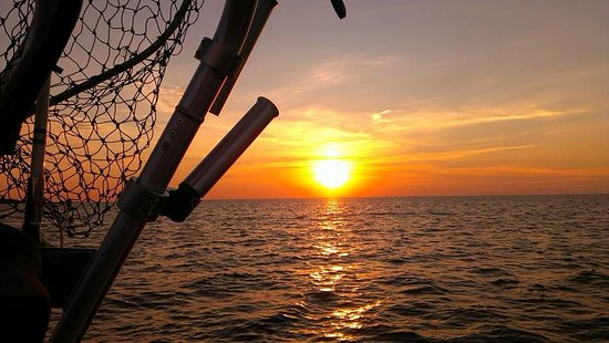 Sebewaing, MI: It's not all about fishing.  Evening customers frequently enjoy this spectacular perk!