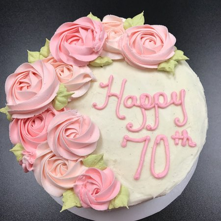 70th Birthday cake Picture of Cupcake Delights Inc Holmes Beach