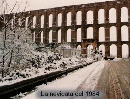 Ponti della Valle - Acquedotto Carolino: Ponti della Valle di Maddaloni, ricoperti da una delle rare nevicate.