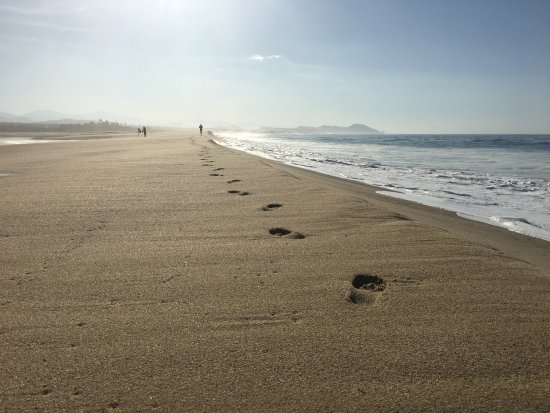 Todos Santos, Mexique : Footprints in the sand...