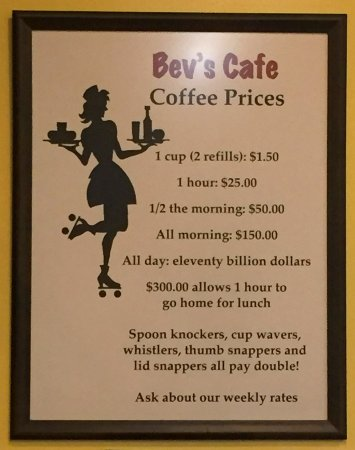 Bevs Cafe - Red Wing, Minnesota - Coffee Sign
