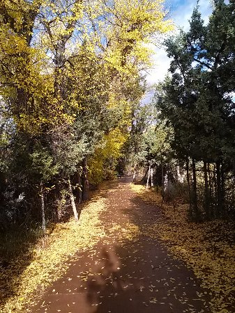 Dubois, WY: Autumn on the Riverwalk in Town Park