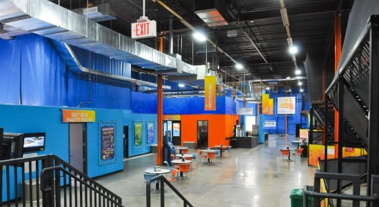Sky Zone : Fly and lounge to your heart's content.