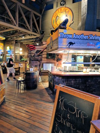 Outback Steak & Oyster Bar: As you walk in