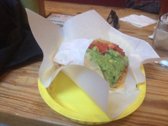 The Taco Shop at Underdogs: Nick's Way Pollo Taco. Very large for a taco. Generous serving of chicken and guacomole.