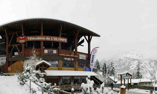 Brides-les-Bains, Frankrike: Vu de dehors, sous la neige