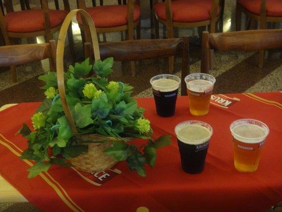 Krušovice, Česká republika: Пиво для дегустации Royal Brewery Krusovice