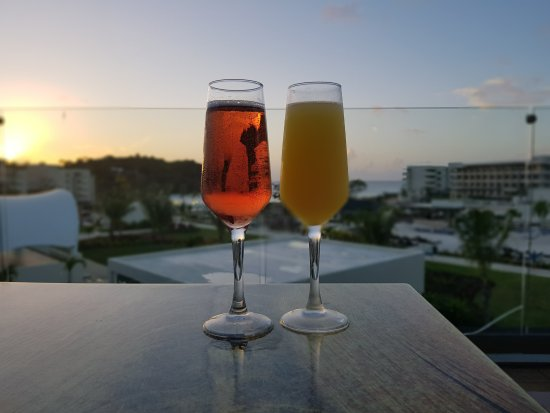 Cap Estate, St. Lucia: Mimosa & Kir Royal & Sunset