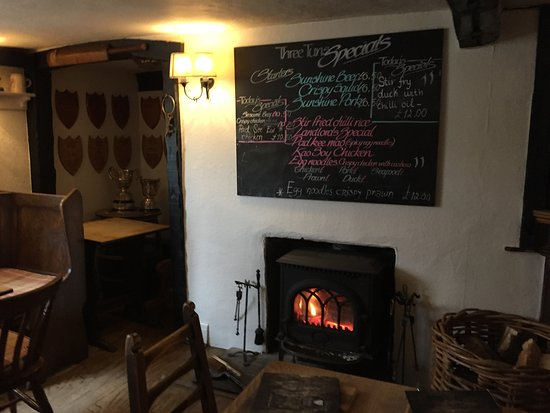 The Three Tuns: specials & a fire