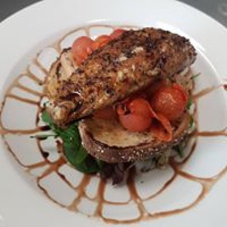 Brackley, UK: Peppered Mackerel with Balsamic Reduction