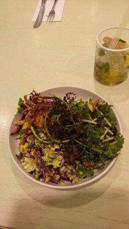 Fabolous salads and non-alcoholic cocktails
