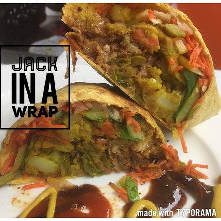 Veg-In YYC: Jack-In a Wrap - Made with Jackfruit and veggies