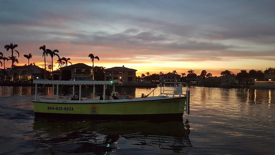 Sunset Cruise On Island Pompano Beach Water Taxi