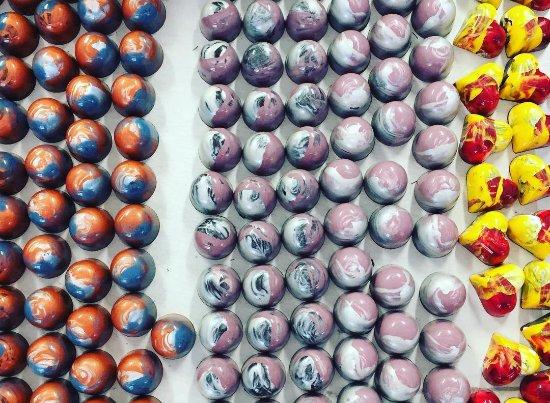 Xocodiva: natural belgian chocolate with chocolate ganache ...  grand marnier, lavender, passion fruit