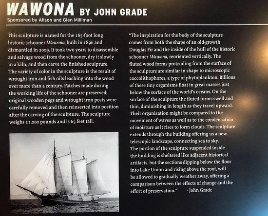 Museum of History & Industry: John Grade's Wawona inside MOHAI