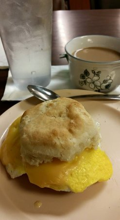 Huntingdon, Tennessee: Bacon Egg & Cheese Biscuit with Coffee