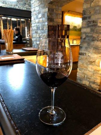 Silver Oak Cellars: Silver Oak Winery. Inside tasting.