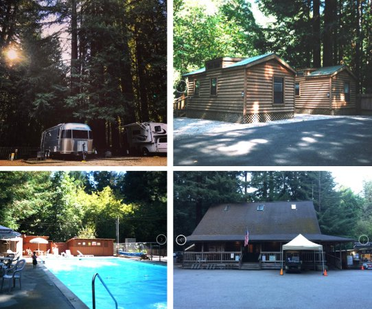 Felton, Kalifornien: Family-oriented and pet-friendly campground nestled in Santa Cruz Redwood Forest