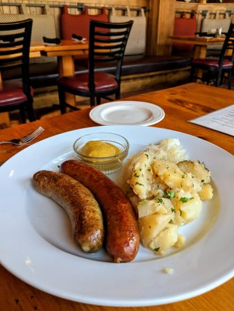 Macungie, PA: TWO DIFFERENT BRATS, WARM POTATO SALAD AN SAUER KRAUT