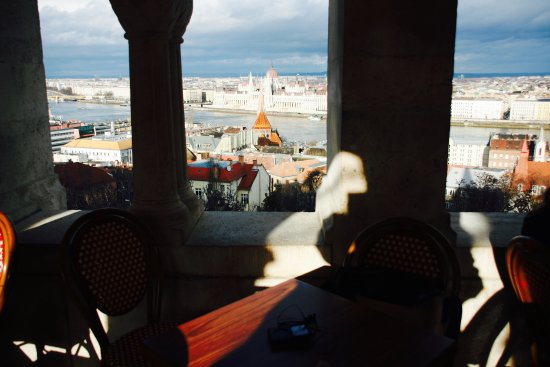 My Personal Budapest: view from a cafe at buda castle