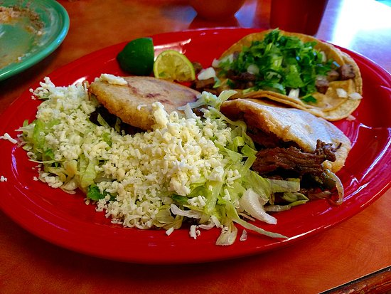 Loxley, AL: Gorditas, with one taco from the authentico menu.