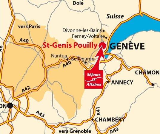 Sejours affaires saint genis saint genis pouilly ain for Appart hotel 01630