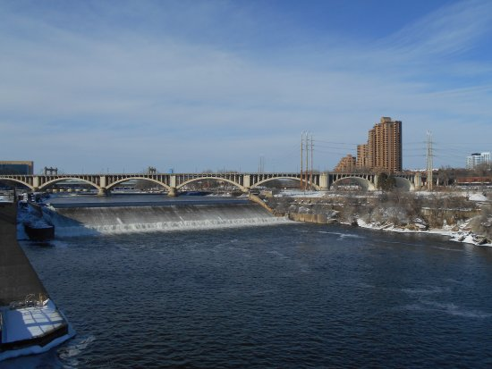 View of Saint Anthony Falls, from Stone Arch Bridge